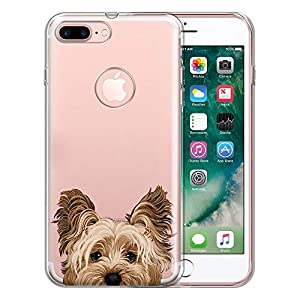 FINCIBO Case Compatible with Apple iPhone 7 Plus 2016 / iPhone 8 Plus 2017, Clear Transparent TPU Protector Case Cover Soft Gel for iPhone 7 Plus / 8 Plus (NOT FIT iPhone 7/8) - Yorkshire Terrier 3