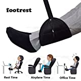 Jinon Airplane Footrest,Foot Hammock Portable Travel Plane Flight Carry-on Foot Rest Swing and Hang Feet with Adjustable Straps Relaxation and Comfortable Leg Hammock Perfect for Travel and Office