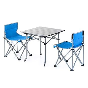 Nevy - Juego de sillas y Mesa Plegable y portátil, para ...