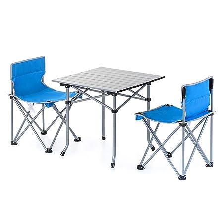 Nevy - Juego de sillas y Mesa Plegable y portátil, para Camping ...