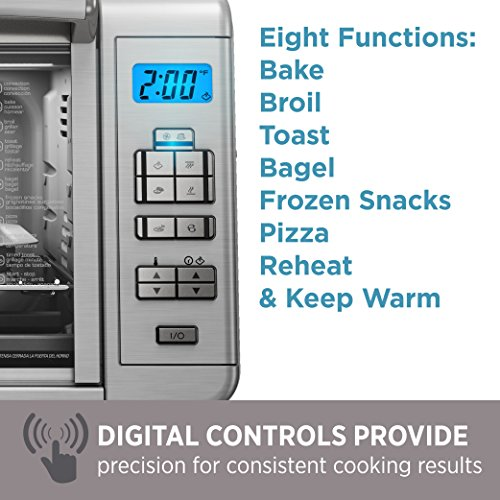 BLACK+DECKER 6-Slice Digital Convection Countertop Toaster Oven, Stainless Steel, TO3280SSD by BLACK+DECKER (Image #6)
