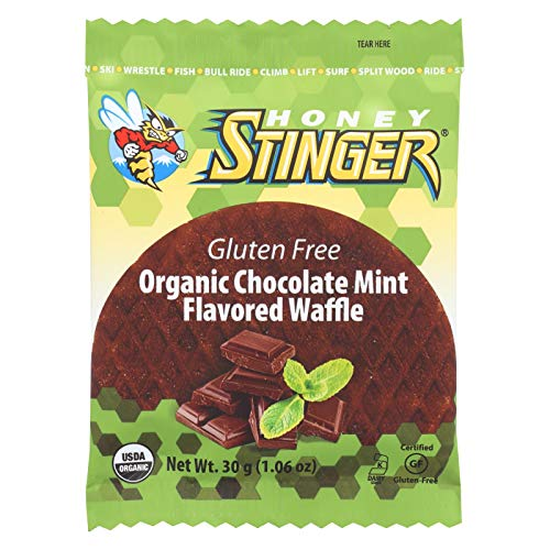 (HONEY STINGER, WAFFLE, OG2, MINT CHOCOLATE, Pack of 16, Size 1.06 OZ - No Artificial Ingredients Gluten Free Kosher Wheat Free 95%+ Organic)
