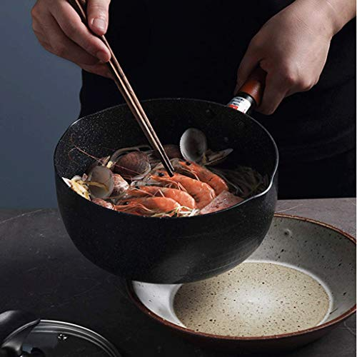 PDGJG Ceramic Cookware Set, New Technology Double Nonstick Coating Free Kitchen Pots and Pan Set (Size : S)