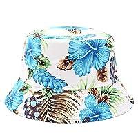 Geetobby Women Print Bucket Hat Summer Fashion Floppy Packable Reversible Sun Hat Fisherman Hat