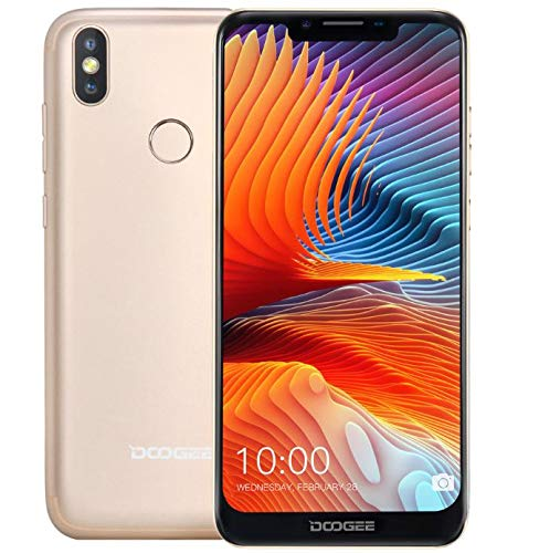DOOGEE BL5500 LITE Android 8.1 Smartphone ohne Vertrag (4G LTE) – super schlank mit 5500mAh Akku, 6,19 Zoll U-Kerb…