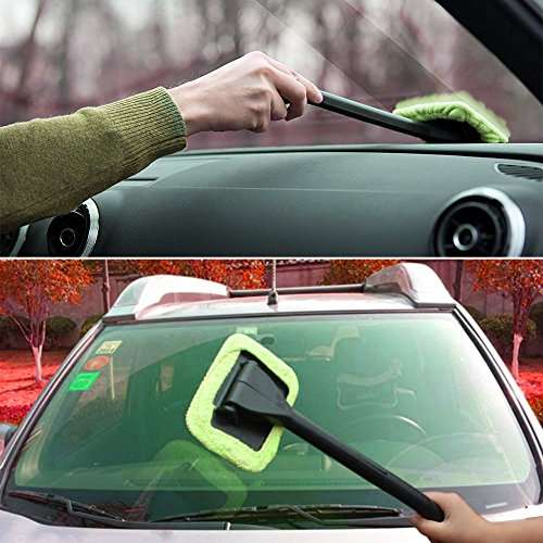 cargool car interior windshield wiper auto glass wiper household window brush with 2 pads. Black Bedroom Furniture Sets. Home Design Ideas