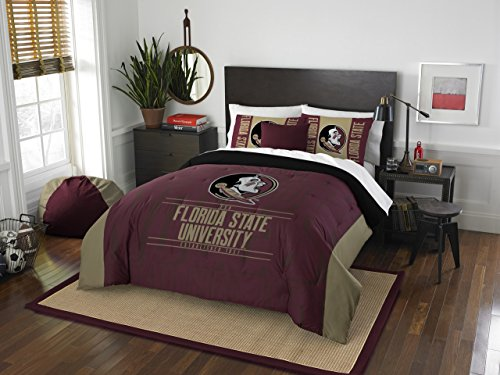 Florida State Bed (The Northwest Company Officially Licensed NCAA Florida State Seminoles Modern Take Full/Queen Comforter and 2 Sham Set)