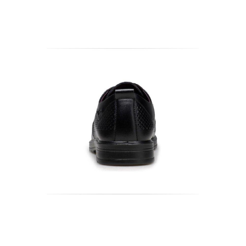 YXLONG Atmungsaktive Sommer Hohlen Schuhe Männer Atmungsaktive YXLONG Business-Männer Schuhe Leder Sandalen Flut Leder schwarz 67a188