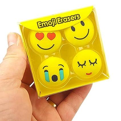 Buycrafty Emoji Smile Face - Gomas de borrar para lápiz ...