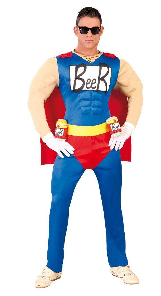 Hombre superhéroe Traje Beerman Cerveza
