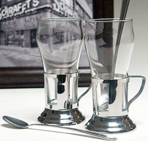 Schrafft S Luncheonette Style Glass With Holder Gift Box