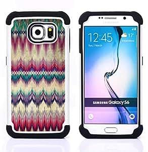 For Samsung Galaxy S6 G9200 - carpet feather native american culture Dual Layer caso de Shell HUELGA Impacto pata de cabra con im??genes gr??ficas Steam - Funny Shop -