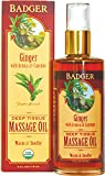 BADGER Ginger Deep Tissue Massage Oil, 4 Ounce