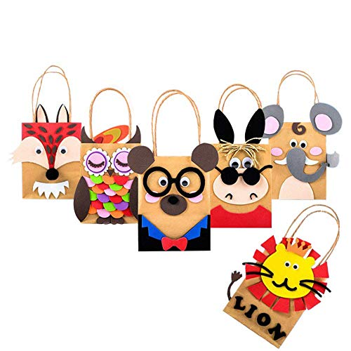 Gift Bags, Creativity DIY Paper Bags with Handles(9.0