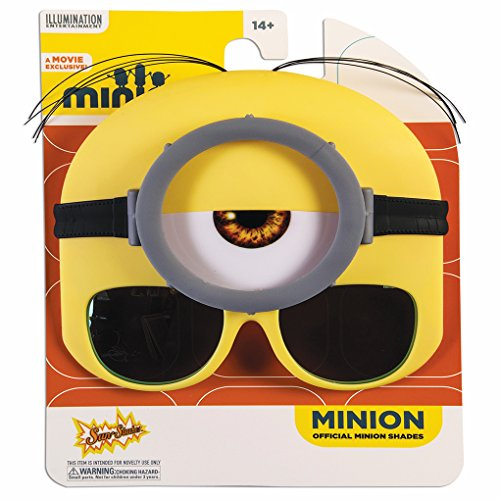 Sun-Staches Costume Sunglasses Stuart Minion Goggle Party Favors UV400 -