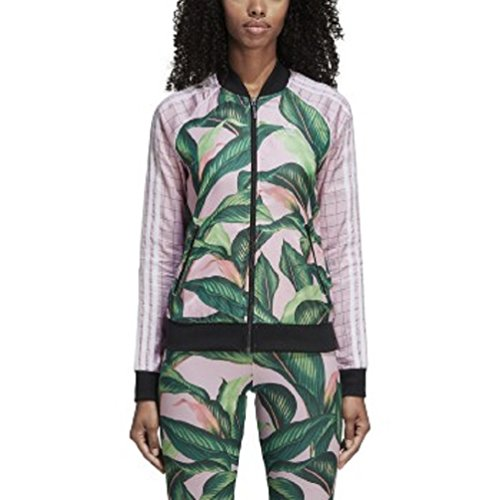 Swagger Knit (adidas Originals Women's Farm Superstar Tracktop, Green/Pink, M)