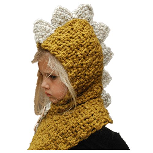 Jiamingyang Winter Warm Neck Wrap Scarf Children Wool Knitted Hats Baby Caps (Yellow, Fit Most Kids) by Jiamingyang