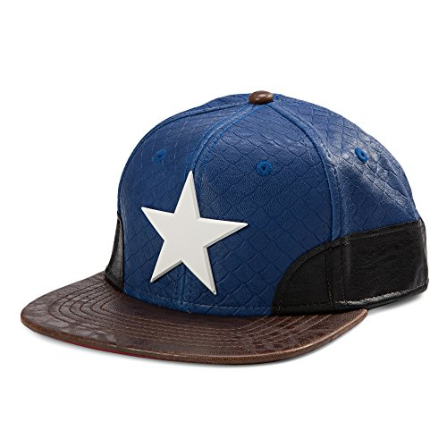 Captain-America-Faux-Leather-Snapback-Hat-Size-ONE-SIZE