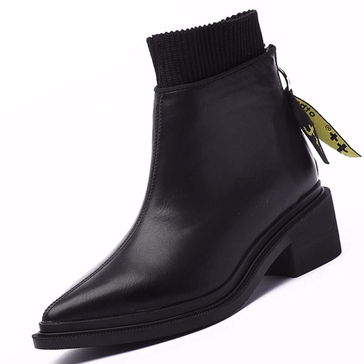 KPHY Damenschuhe Mode Martin Stiefel 5Cm Heel Runden Kopf Kopf Kopf Stiefel Reißverschluss Dicke Sohle Einzigen Schuh 432bb6