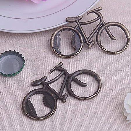 Pioneer Clan Abridor de botellas con patrón de bicicleta de bronce para regalo de invitados (5 paquetes)