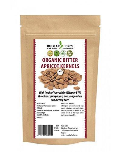 Organic Raw Bitter Apricot Kernels - 7 Oz.