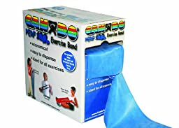 CanDo Perf 100 Low Powder Exercise Band, 100 yard with perforations, Blue: Heavy