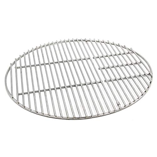 Hongso SUS304 Stainless Steel Round Cooking Grid Grate Replacement Part for Large Big Green Egg, Char-Griller, Kamado Joe, Vision Grill VGKSS-CC2, B-11N1A1-Y2A Gas Grill, 18 1/2 Inch Diameter (BGE18) (Joe Grill Smokey Grate)