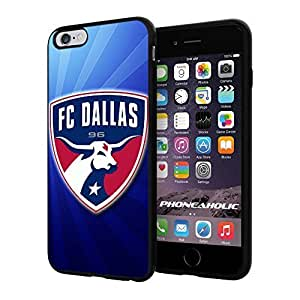 """Soccer MLS FC Dallas LOGO SOCCER FOOTBALL, Cool iPhone 4/4s (6+ , 5.5"""") Smartphone Case Cover Collector iphone TPU Rubber Case Black"""