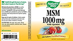 Nature\'s Way MSM 1000mg, 200 Tablets