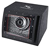 """Best Dual Powered Subwoofers - Sound Ordnance B-8P Single 8"""" Bandpass box Powered Review"""