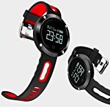 Fitness Activity Tracker Sports Watch | Smart Bracelet with Blood Pressure Monitor Heart Rate Monitor Pedometer Calorie Counter Sleep Monitor Call Alert IP67 Waterproof for iPhone and Android (Black)