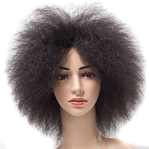 Short Afro Kinky Straight Wigs For African American Women Synthetic Wigs Natural Black Heat Resistant Wigs