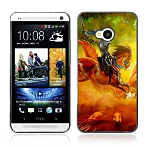 Designer Depo Hard Protection Case for HTC One M7 / Knight On Horse Painting