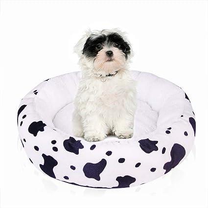BABYSq Cama Redonda para Mascotas, Sofá para Perros/Gatos, Perlita De
