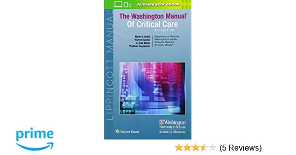 the washington manual of critical care 9781496328519 medicine rh amazon com washington manual of critical care 3rd edition pdf free download washington manual critical care free download ebook