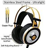 Markfive MK2 Light Comfortable Gaming Headset Hi-Fi Over-Ear Headphones Stereo Headphone Silver Colour with Volume Control Internal Mic and Adjustable Headband for PC Laptop Xbox PS4