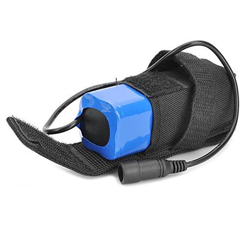 4.2V 6000mAh 4x 18650Li-Ion Akku Pack mit Tasche für LED Fahrrad Licht oder Scheinwerfer
