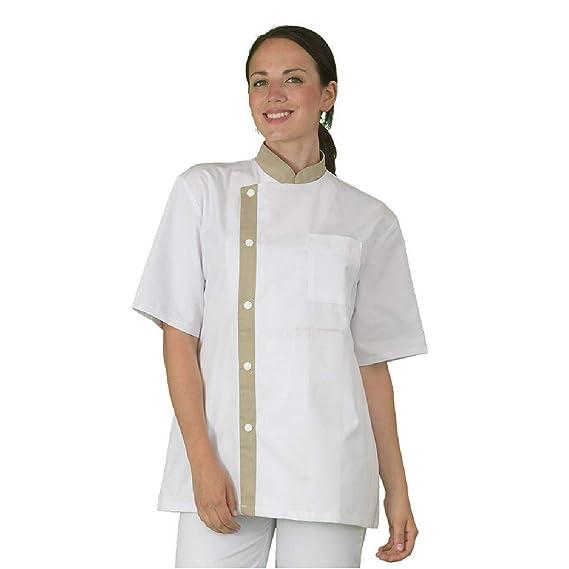 prix limité énorme inventaire invaincu x Label Blouse Tunique de Travail Femme Blanche et Beige Usage ...