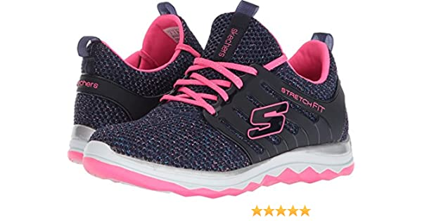Skechers Diamond Runner, Zapatillas de Running para Niñas, Azul (Navy/Hot Pink), 27 EU: Amazon.es: Zapatos y complementos