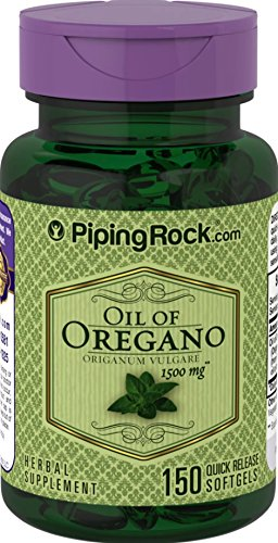 Piping Rock Oil of Oregano Oreganum Vulgare 1500 mg 150 Quick Release Softgels Herbal Supplement For Sale