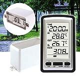 BEYST Digital Rain Gauge - Wireless Temperature Recorder Weather Sensor - Plastic Measurement