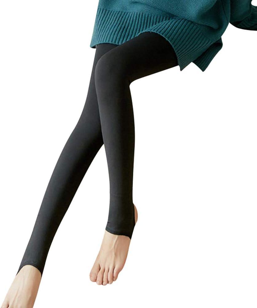 Thermal Winter TightsLegs Fake Translucent Warm Fleece Pantyhose Women Soft Leggings Fleece Lined Thick Leggings Gebuter Womens Opaque Warm Fleece Lined Tights