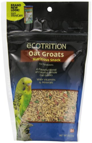 - Ecotrition Oat Groats Nutritious Snack For Parakeets, 8-Ounce