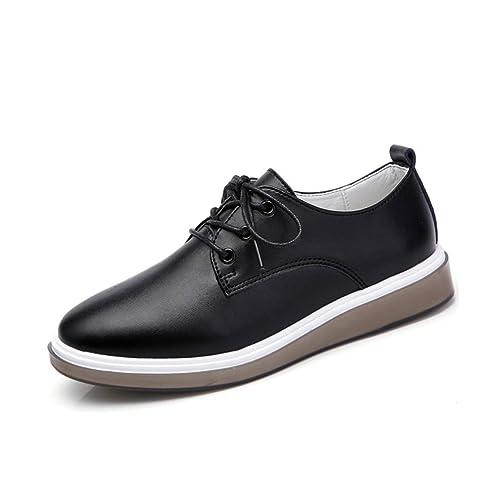 OtoñO Mujer Oxford Zapatillas De Deporte Pisos Mujeres Casual Punta Redonda Suave Cuero Cordones para Botes Mocasines Mocasines: Amazon.es: Zapatos y ...