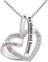 Jewelry Sterling Silver I love you for always and forever...