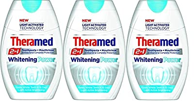 Theramed 2 in 1 Whitening Power Toothpast + Mouthwash 75ml ( Pack of 3)