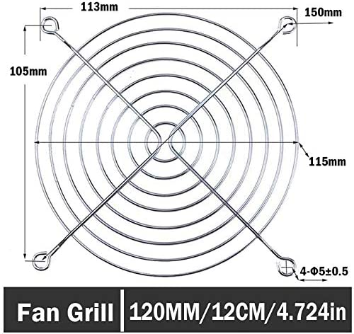 10PCS Gdstime Metal Cover PC Filter 120mm 12cm Computer Case Fan Guard Grill