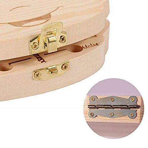 Baby Save Tooth Wooden Box - YiGooood Baby Save Milk Teeth Wood Storage Box For Kids(boy/girl (girl)