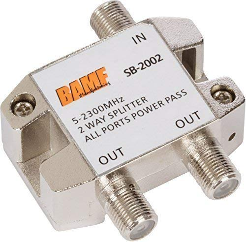 (BAMF 2-Way Coax Cable Splitter Bi-Directional MoCA 5-2300MHz)