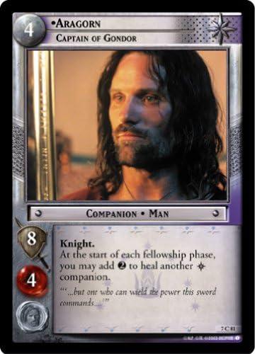 THE RETURN OF THE KING PRISMATIC FOIL CARD LOTR #1 ARAGORN